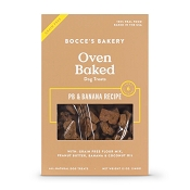 Bocce's Bakery Oven-Baked Grain-Free PB & Banana Recipe Dog Treats, 12-oz Box