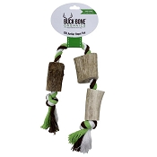 Buck Bone Organics Elk Antler Rope Dog Toy, Large/Jumbo