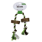Buck Bone Organics Elk Antler Rope Dog Toy, Small/Medium