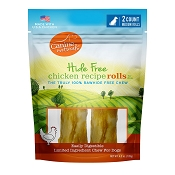 Canine Naturals Hide Free Chicken Recipe Medium Rolls Dog Chew Treats, 2-Count Bag