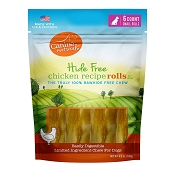 Canine Naturals Hide Free Chicken Recipe Small Rolls Dog Chew Treats, 6-Count Bag