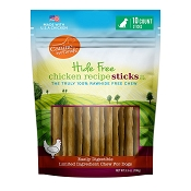 Canine Naturals Hide Free Chicken Recipe Sticks Dog Chew Treats, 10-Count Bag