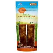 Canine Naturals Hide Free Peanut Butter Extra Large Rolls Dog Chew Treats, 2-Count Bag