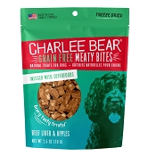 Charlee Bear Meaty Bites Beef Liver & Apples Freeze-Dried Dog Treats, 2.5-oz Bag