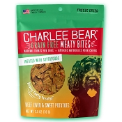 Charlee Bear Meaty Bites Beef Liver & Sweet Potato Freeze-Dried Dog Treats, 2.5-oz Bag