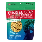 Charlee Bear Meaty Bites Chicken & Blueberries Freeze-Dried Dog Treats, 2.5-oz Bag