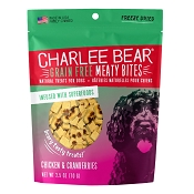 Charlee Bear Meaty Bites Chicken & Cranberries Freeze-Dried Dog Treats, 2.5-oz Bag