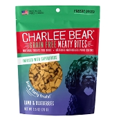 Charlee Bear Meaty Bites Lamb & Blueberries Freeze-Dried Dog Treats, 2.5-oz Bag