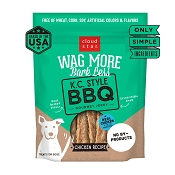 Cloud Star Wag More Bark Less K.C. Style BBQ Chicken Recipe Grain-Free Jerky Dog Treats, 10-oz bag