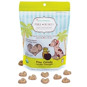 Cocotherapy Pure Hearts Pina Colada Coconut Pineapple Organic Dog Treats