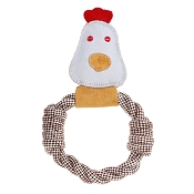 Country Tails Calico Chicken Rope Ring Natural Dog Toy