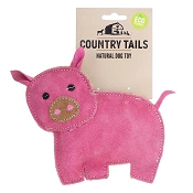 Country Tails Peggy Pig Natural Dog Toy