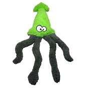 Cycle Dog Duraplush Fuzzies! Squid Eco-Friendly USA Dog Toy