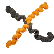 Cycle Dog Duraplush Springy Thing Eco-Friendly USA Dog Toy, Orange, Large