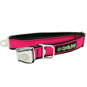 Cycle Dog Eco-Friendly Hot-Pink MAX Reflective Dog Collar, Large