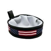 Cycle Dog USA Made Trail Buddy Collapsible Dog Travel Bowl, American Flag