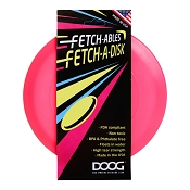 DOOG Fetch-Ables FETCH A DISK Frisbee USA Dog Toy, Pink