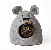 Dharma Dog Karma Cat Wool Grey Mouse Cave Bed