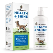 Dr. Harvey's Health & Shine Wild Caught Omega 3 Fish Oil Dog Supplement, 16-oz