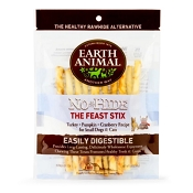 Earth Animal No-Hide The Feast Turkey Recipe Stix Dog Treats, 10 Pack