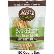 Earth Animal No Hide Pork Stix Dog Treats, 90 Count Box