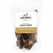 Farm Hounds Premium Pork Jerky for Dogs, 3.5-oz Bag