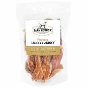 Farm Hounds Premium Turkey Jerky for Dogs, 3.5-oz Bag