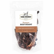 Farm Hounds Premium Beef Heart Dog Treats, 4.5-oz Bag