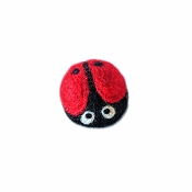 FriendSheep Gina the Ladybug Wool Cat Toy