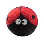 FriendSheep Ladybug Wool Ball Dog Toy, 3-Inch