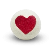 FriendSheep One Love Heart Wool Ball Dog Toy, 3-Inch