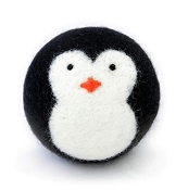 FriendSheep Penguin Wool Ball Dog Toy, 3-Inch
