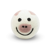 FriendSheep Pig Wool Ball Dog Toy, 3-Inch