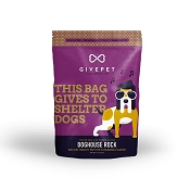 GivePet Doghouse Rock Bacon Recipe Dog Treats, 12-oz Bag