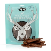 Go Go Stressless USA Wild Venison Jerky Dog Treats, 12-oz Bag