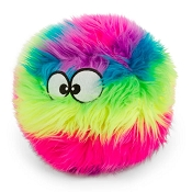 GoDog Furballz Chew Guard Squeaky Plush Dog Toy, Large