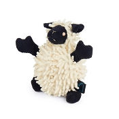 GoDog Fuzzy Wuzzy Lamb Dog Toy, Mini