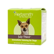 Herbsmith July Third Soft Chews Immediate Calming Supplement for Dogs, Large 30ct