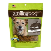 Herbsmith Soft & Chewy Pumpkin, Flax & Cinnamon Dog Treats, 8-oz Bag