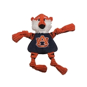 HuggleHounds Auburn University Aubie the Tiger Knottie Dog Toy, Small