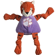 HuggleHounds Clemson University The Tiger Knottie Dog Toy, Large
