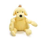 HuggleHounds Huggle Mutts Roxie the Mutt Tough Squeaky Plush Dog Toy, Large