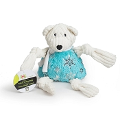 Hugglehounds Holiday Puttin' on the Glitz Bear Knottie Dog Toy, Large