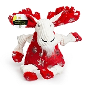 Hugglehounds Holiday Puttin' on the Glitz Moose Knottie Dog Toy, Large