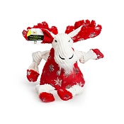Hugglehounds Holiday Puttin' on the Glitz Moose Knottie Dog Toy, Small