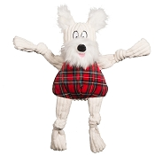 Hugglehounds Holiday Totally Tartan Whiskey Westie Knottie Dog Toy, Large