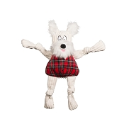 Hugglehounds Holiday Totally Tartan Whiskey Westie Knottie Dog Toy, Small