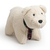 Hugglehounds Soft n' Snugglie Polar Bear Squooshie Dog Toy, Large