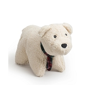 Hugglehounds Soft n' Snugglie Polar Bear Squooshie Dog Toy, Small