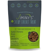 Jiminy's The Original Cricket Cookie Peas & Sweet Potato Recipe Dog Treats, 6-oz Bag